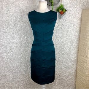 Adrianna Papell Teal Bandage Style Dress | 14